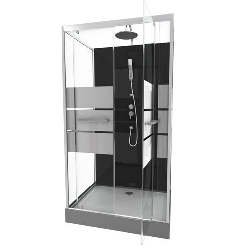 Aurlane douchecabine Study 110x80cm chroom
