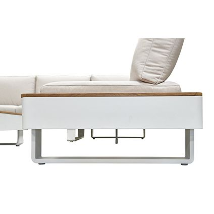Ensemble lounge Central Park StRaphael 3 pc blanc