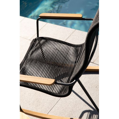 Exotan schommelstoel Slimm zwart