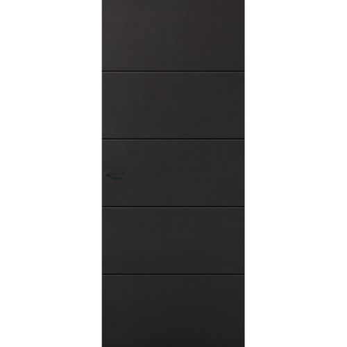 CanDo Capital binnendeur Providence zwart opdek links 93x201.5 cm