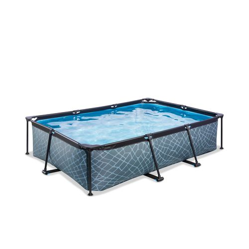 EXIT opzetzwembad rectangular Stone 300x200x65cm Grijs