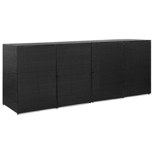 VidaXL containerberging driedubbel 305x78x120cm zwart