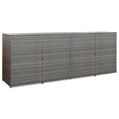 VidaXL containerberging driedubbel 305x78x120cm antraciet