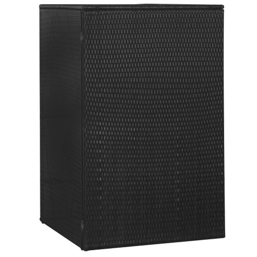VidaXL containerberging enkel 76x78x120cm zwart