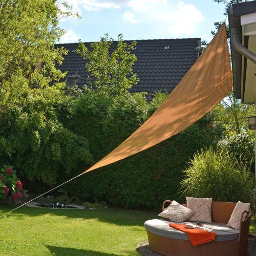VidaXL HI zonnescherm driehoekig 36x36m beige