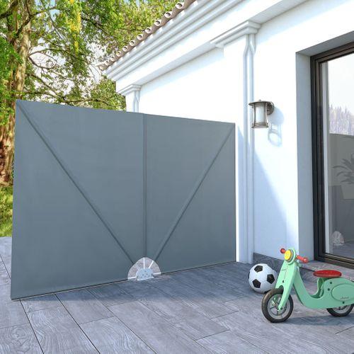 VidaXL tuinscherm inklapbaar 240x160cm grijs