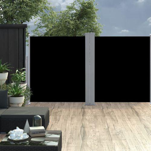 VidaXL tuinscherm uittrekbaar 170x600cm zwart