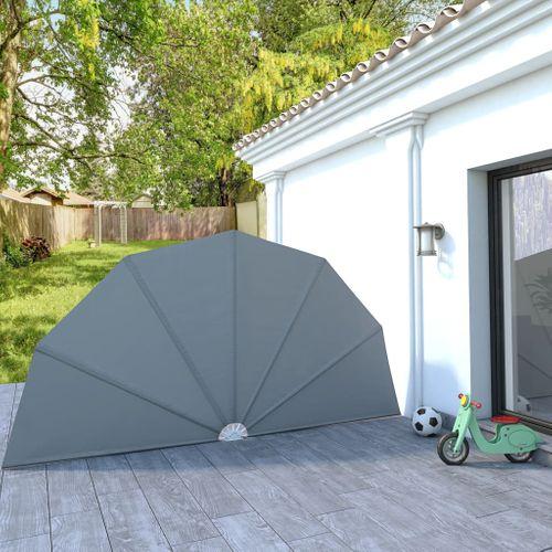 VidaXL tuinscherm inklapbaar 200cm grijs
