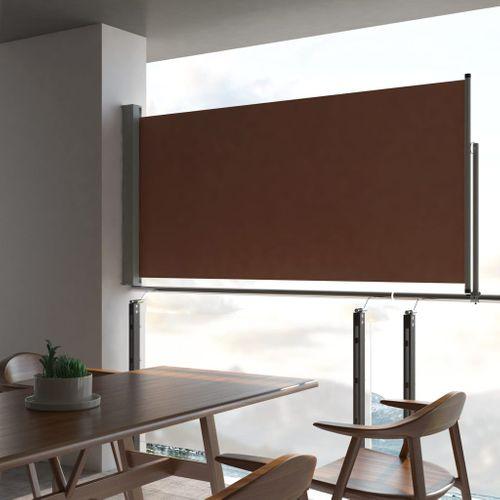 VidaXL tuinscherm uittrekbaar 120x300cm bruin