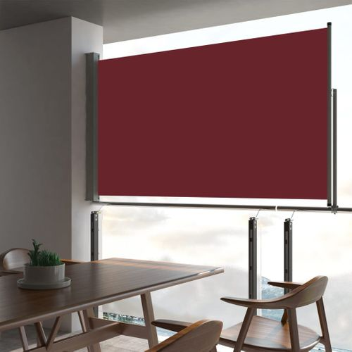 VidaXL tuinscherm uittrekbaar 140x300cm rood