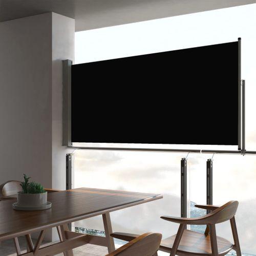 VidaXL tuinscherm uittrekbaar 60x300cm zwart