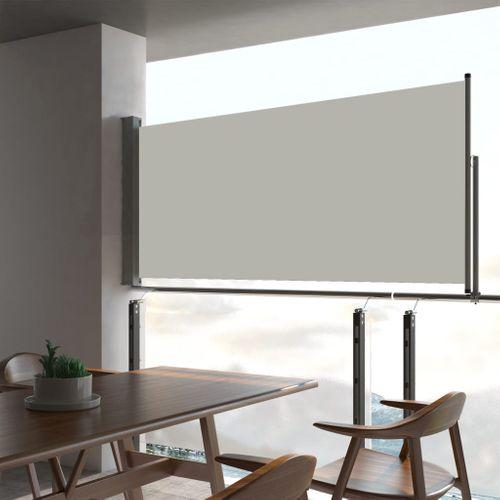 VidaXL tuinscherm uittrekbaar 60x300cm crème