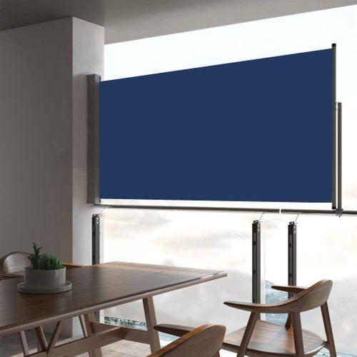 VidaXL tuinscherm uittrekbaar 80x300cm blauw