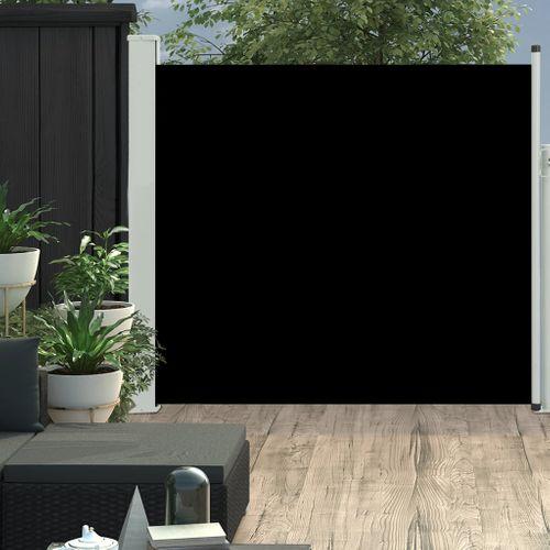 VidaXL tuinscherm uittrekbaar 170x300cm zwart