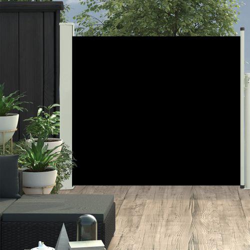 VidaXL tuinscherm uittrekbaar 100x300cm zwart