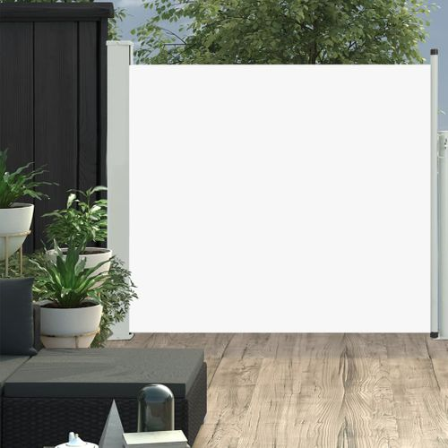VidaXL tuinscherm uittrekbaar 100x300cm crème