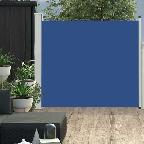 VidaXL tuinscherm uittrekbaar 100x300cm blauw