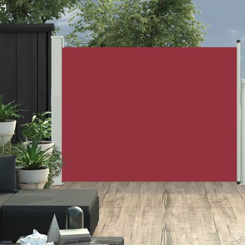 VidaXL tuinscherm uittrekbaar 170x500cm rood