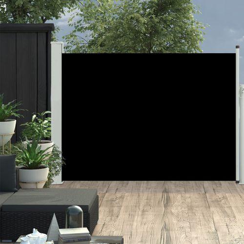 VidaXL tuinscherm uittrekbaar 100x500cm zwart