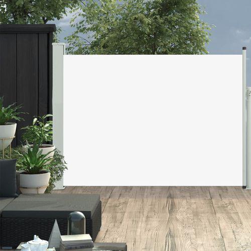 VidaXL tuinscherm uittrekbaar 100x500cm crème