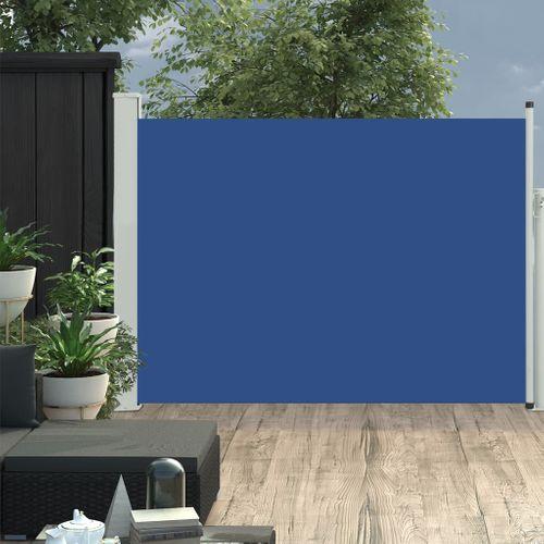 VidaXL tuinscherm uittrekbaar 100x500cm blauw