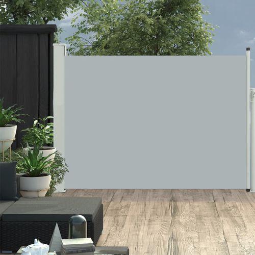 VidaXL tuinscherm uittrekbaar 120x500cm grijs