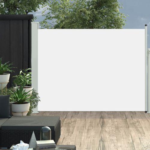 VidaXL tuinscherm uittrekbaar 140x500cm crème