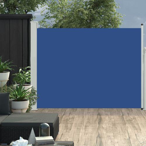 VidaXL tuinscherm uittrekbaar 140x500cm blauw