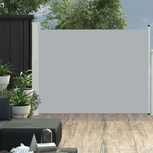 VidaXL tuinscherm uittrekbaar 140x500cm grijs