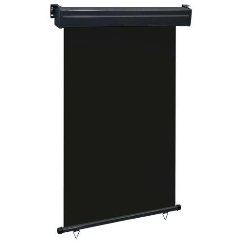 VidaXL balkonscherm 120x250 cm zwart