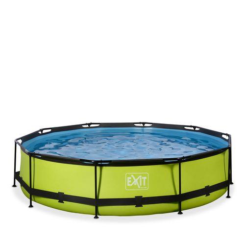 EXIT Lime opzetzwembad met filterpomp groen Ø360x76cm