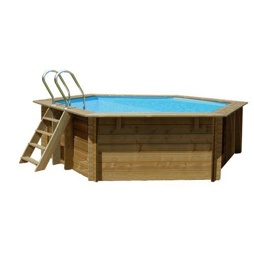 Gre opzetzwembad Normandie grenen rond Ø400cm