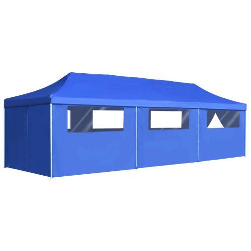 VidaXL vouwtent pop up met 8 zijwanden 3x9m blauw