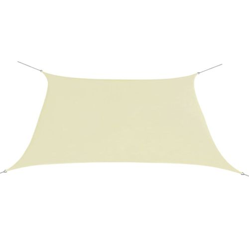 VidaXL zonnescherm oxfordtextiel vierkant 2x2 m crème