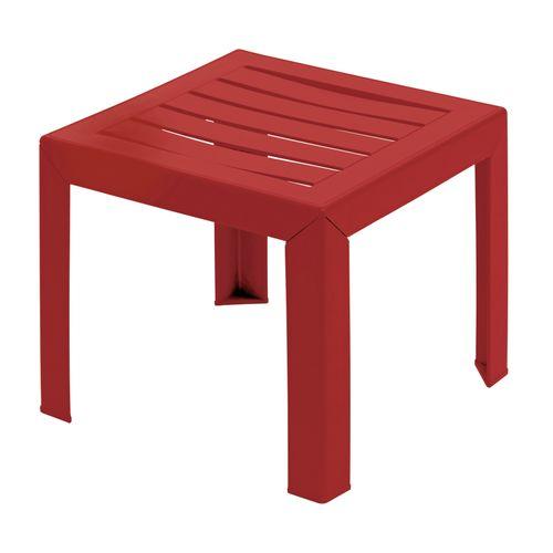 Grosfillex lage tuintafel Miami PVC 40x40cm rood