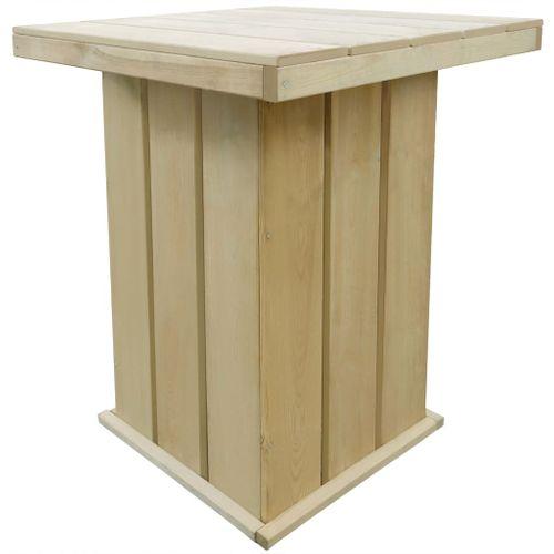 VidaXL bartafel 75x75x110cm geïmpregneerd grenenhout
