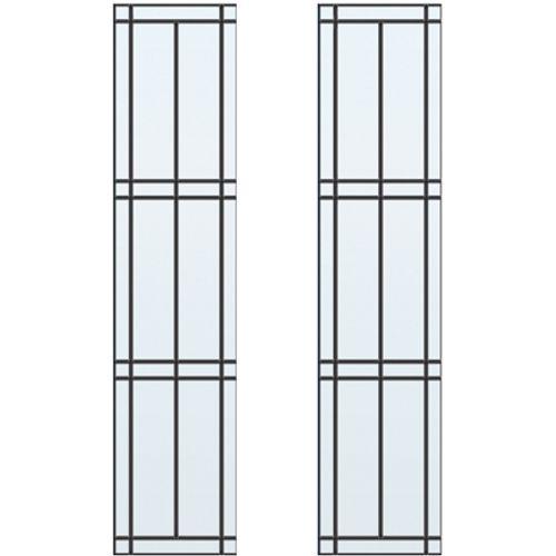 CanDo glas-in-lood mat ML 660 of ML 665 201,5 I 211,5 x 83cm 2 stuks