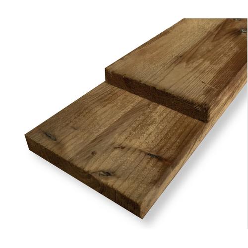 Schuttingplank grenen 17x15x360cm
