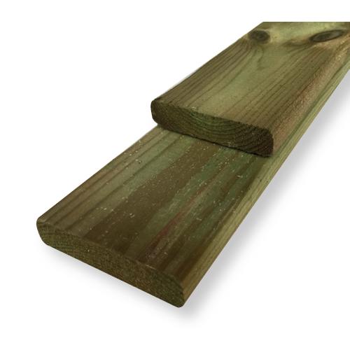 Schuttingplank grenen 16x9x180cm