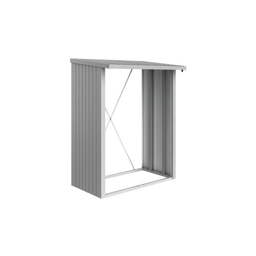 Biohort haardhoutopslag WoodStock 150 zilver metallic 102x157cm