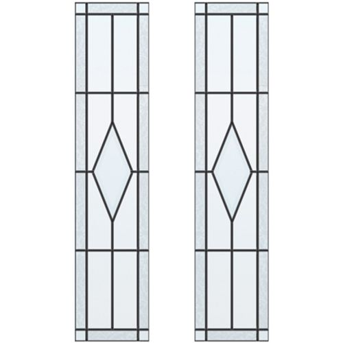 CanDo glas-in-lood Diamond ML 697 201,5 I 211,5 x 83cm 2 stuks