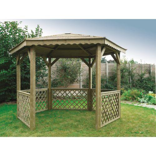 Solid paviljoen S7707 geïmpregneerd hout 351x305cm