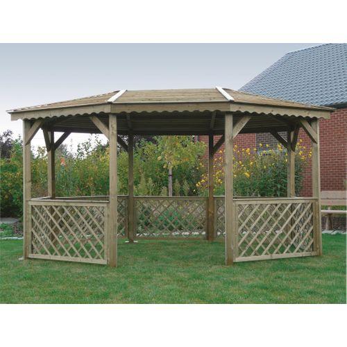 Solid paviljoen S7708 geïmpregneerd hout 445x340cm
