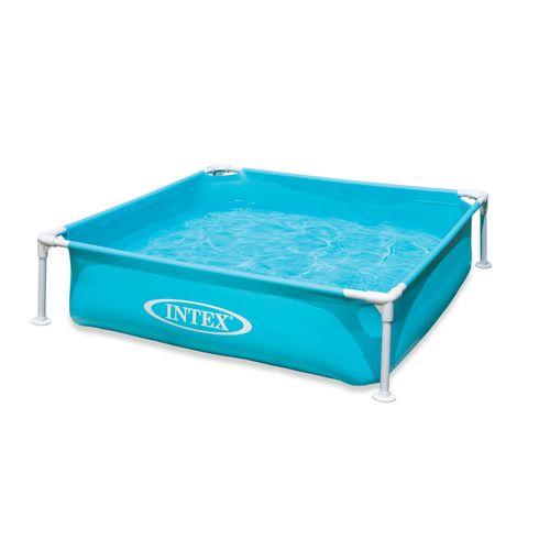 Intex stalen opzetzwembad Blauw Mini Frame 122X122cm