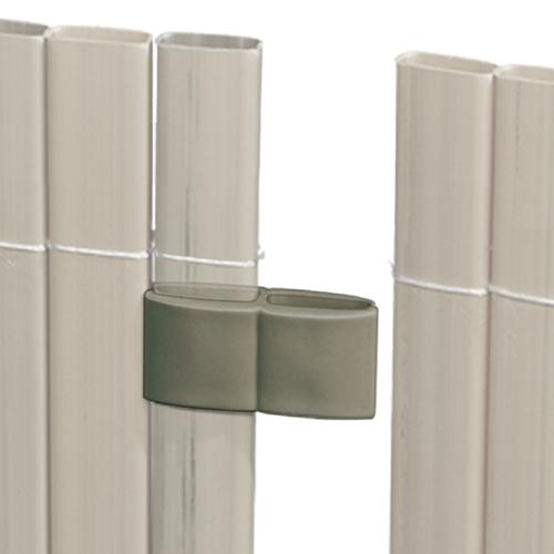 Videx schermverbinder voor balkonscherm grijs 4 stuks