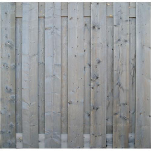 Tuinscherm grijs recht 180x180cm