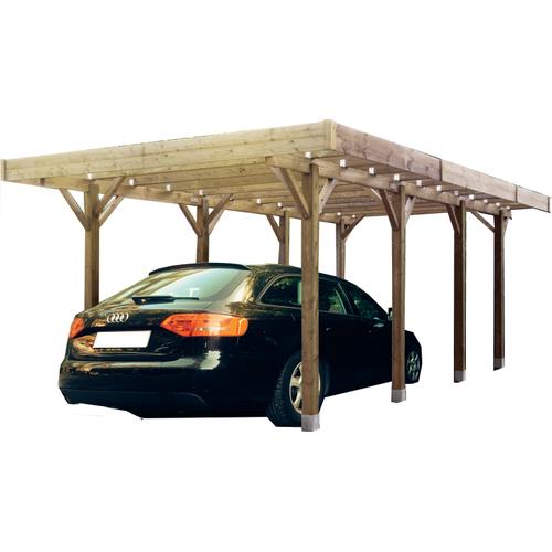 Solid carport S7721 15m²