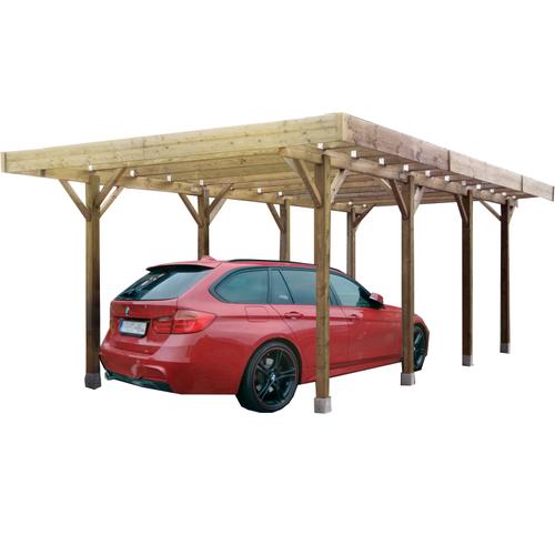Solid carport S7722 20m²