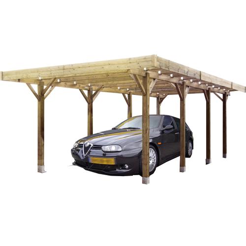 Solid carport S7723 25m²
