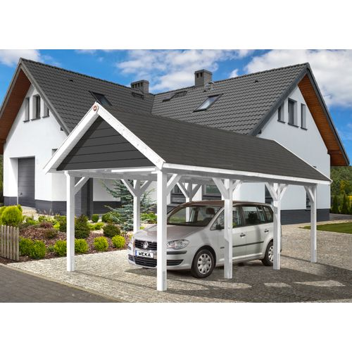 Weka carport 614 GR.1 grijs wit 294x591cm